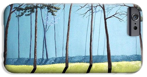 Pines iPhone Cases - Misty Pines iPhone Case by Michael Dillon