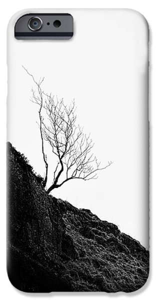 misty tree glen etive iPhone Case by John Farnan