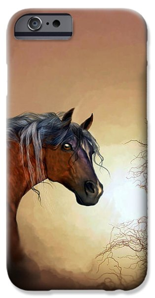 Virtual Paintings iPhone Cases - Misty iPhone Case by Valerie Anne Kelly