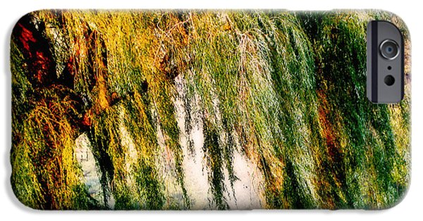 Recently Sold -  - Willow Lake iPhone Cases - Misty Weeping Willow Tree Dreams iPhone Case by Carol F Austin
