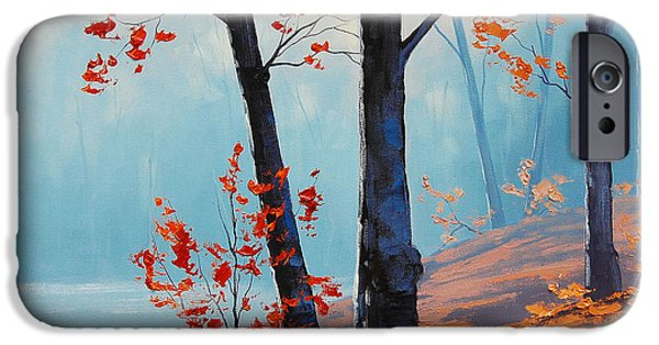 Fall iPhone Cases - Misty Woodland iPhone Case by Graham Gercken