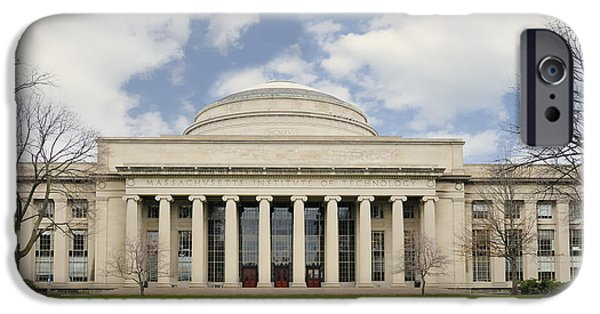 Boston Ma iPhone Cases - MIT Building 10 The Great Dome iPhone Case by Marianne Campolongo