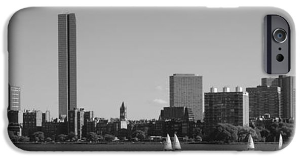 Charles River iPhone Cases - Mit Sailboats, Charles River, Boston iPhone Case by Panoramic Images