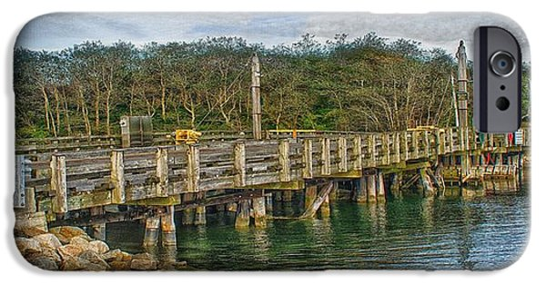 Chatham iPhone Cases - Mitchell River Draw Bridge iPhone Case by Constantine Gregory