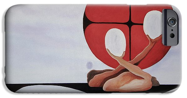 Dali Inspired iPhone Cases - Mitosis of Love iPhone Case by Stuart Engel