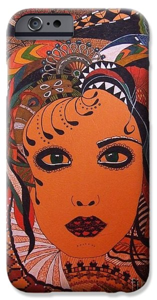 Woman iPhone Cases - Mix iPhone Case by Otilia Grumazescu
