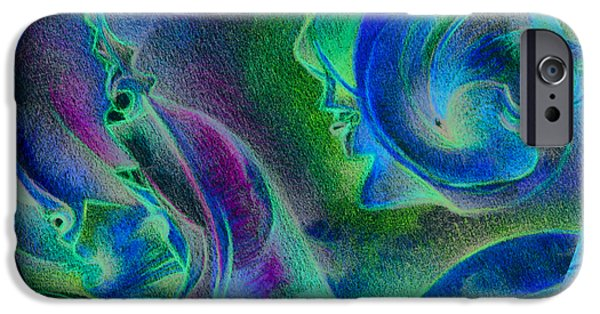 Nature Abstract iPhone Cases - Mixed details iPhone Case by Bodhi