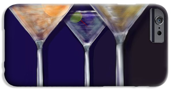 Lemon Drops iPhone Cases - Mixed Martinis iPhone Case by Christine Fournier