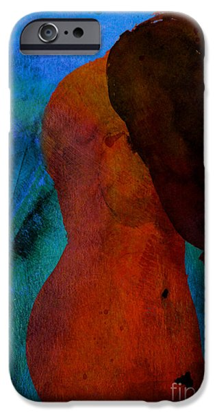 Dave Mixed Media iPhone Cases - Mixed Media Figure iPhone Case by David Gordon