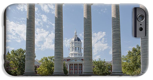 Kaypickens.com iPhone Cases - Mizzou Jesse Hall and Columns iPhone Case by Kay Pickens