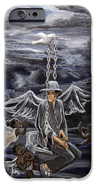 Mj Paintings iPhone Cases - Mj 2 iPhone Case by Roger  James
