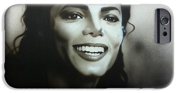 Michael Jackson Paintings iPhone Cases - m.j. iPhone Case by Christian Chapman Art