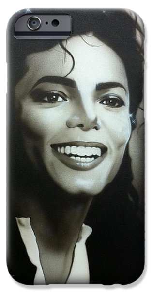 'M.J.' iPhone Case by Christian Chapman Art