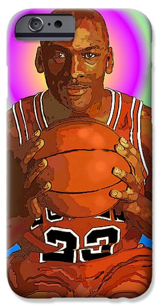 Chicago Bulls Mixed Media iPhone Cases - Mj Halo iPhone Case by Vernon Rowlette