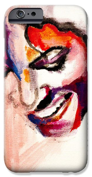 Mj Paintings iPhone Cases - MJ impression iPhone Case by Molly Picklesimer