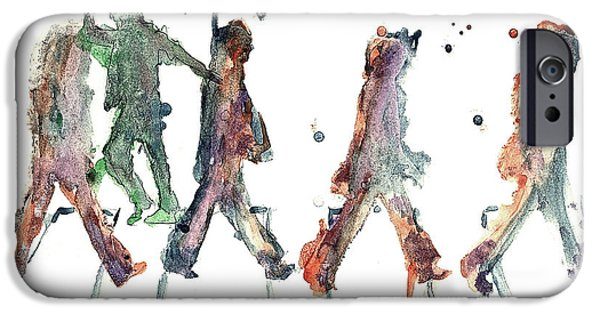 Beatles iPhone Cases - M.J. On Abbey Road iPhone Case by Jody Thompson