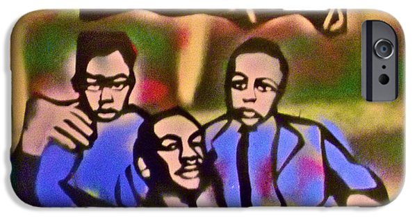 Obama Family iPhone Cases - Mlk Fatherhood 2 iPhone Case by Tony B Conscious
