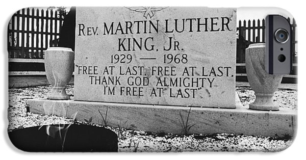 Discrimination iPhone Cases - Mlks Original Grave iPhone Case by Tom McHugh