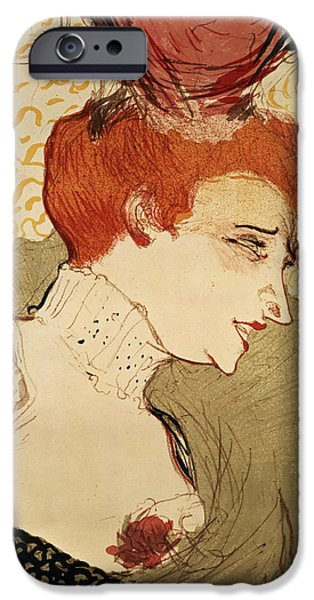 Nineteenth Century iPhone Cases - Mlle Marcelle Lender iPhone Case by Henri de Toulouse-Lautrec