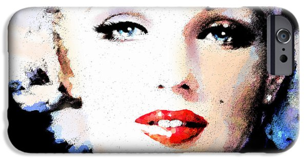 Marilyn Portrait iPhone Cases - Mm 132 P  iPhone Case by Theo Danella
