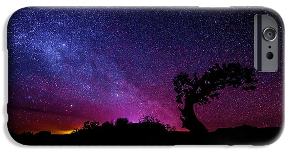 Winter Light iPhone Cases - Moab Skies iPhone Case by Chad Dutson