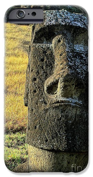 World Destination iPhone Cases - Moais Easter Island Chile iPhone Case by Ryan Fox