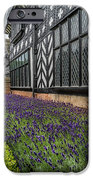 White Frame House iPhone Cases - Moat of Lavender iPhone Case by Adrian Evans