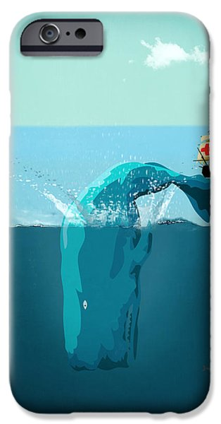 Animation iPhone Cases - Moby Dick iPhone Case by Mark Ashkenazi