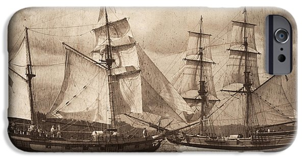 Lady Washington iPhone Cases - Mock Battle iPhone Case by Don Hall