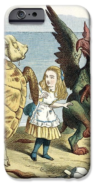 Alice In Wonderland iPhone Cases - Mock Turtle And Gryphon, Artwork iPhone Case by British Library
