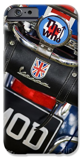 60s Photographs iPhone Cases - Mod Vespa iPhone Case by Tim Gainey
