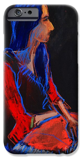 Abstracts Pastels iPhone Cases - Model #2 - figure series iPhone Case by Mona Edulesco