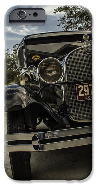Automotive Pyrography iPhone Cases - Model A  iPhone Case by Alex Heath