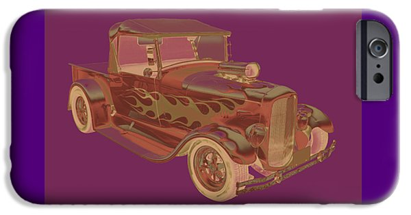 Model Digital Art iPhone Cases - Model A Ford Pickup hot rod Pop Image iPhone Case by Keith Webber Jr