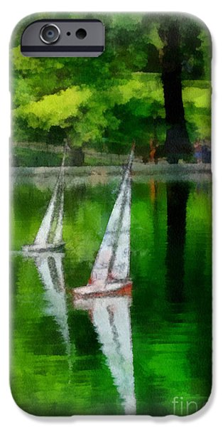Model Boat Basin Central Park iPhone Case by Amy Cicconi