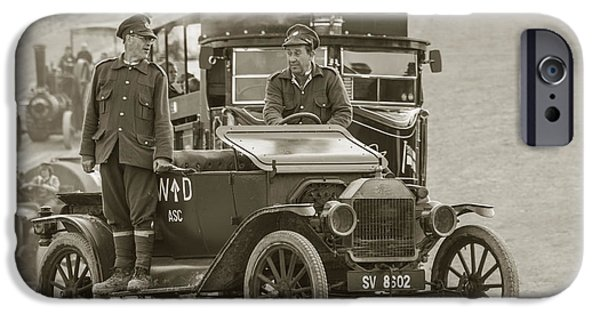 Ford Model T Car iPhone Cases - Model T of War  iPhone Case by Rob Hawkins