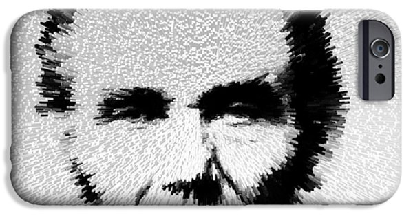 Freedom iPhone Cases - Modern Abe - Abraham Lincoln Art by Sharon Cummings iPhone Case by Sharon Cummings