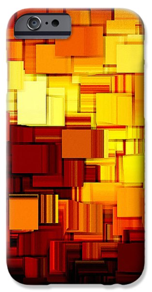 Modern Abstract XI iPhone Case by Lourry Legarde