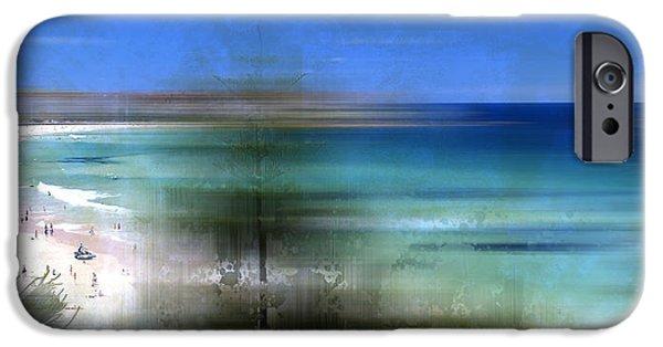 Nature Abstract iPhone Cases - Modern-Art BONDI BEACH iPhone Case by Melanie Viola
