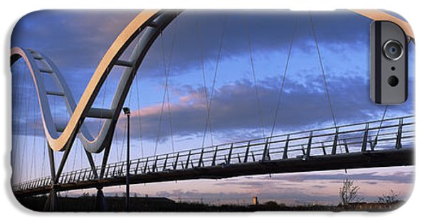 Stockton iPhone Cases - Modern Bridge Over A River, Infinity iPhone Case by Panoramic Images