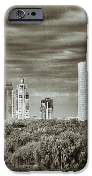 Modern Buenos Aires Black And White iPhone Case by For Ninety One Days