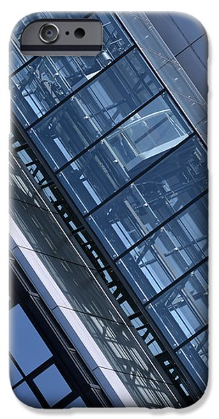 Facade Mixed Media iPhone Cases - Modern building elevator iPhone Case by Toppart Sweden