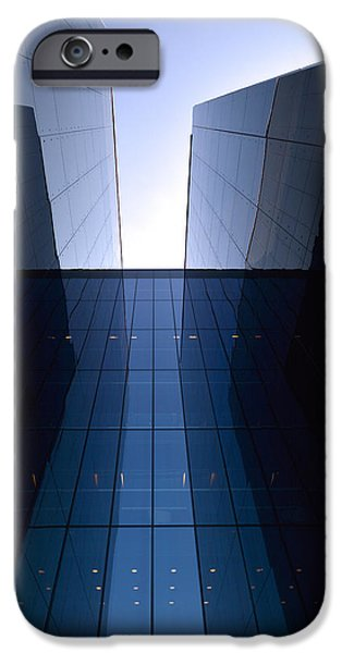 Facade Mixed Media iPhone Cases - Modern building vertical iPhone Case by Toppart Sweden