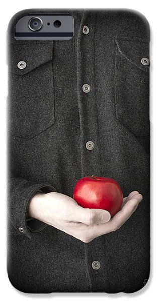Crops iPhone Cases - Modern Day Adam iPhone Case by Edward Fielding
