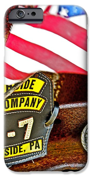 Old Glory iPhone Cases - Modern Day Heroes iPhone Case by Tom Gari Gallery-Three-Photography