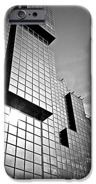 Glass Reflecting iPhone Cases - Modern glass building iPhone Case by Elena Elisseeva