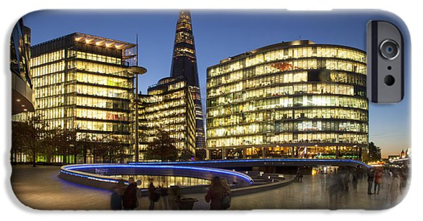 Office Block iPhone Cases - Modern London - South Bank iPhone Case by Brian Jannsen