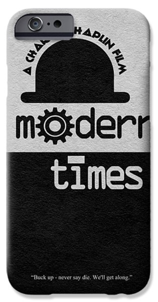 Chaplin iPhone Cases - Modern Times iPhone Case by Ayse Deniz