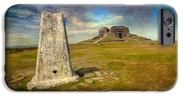 Archaeology iPhone Cases - Moel Famau iPhone Case by Adrian Evans