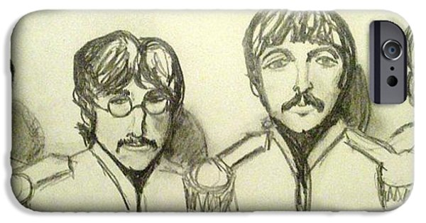 Beatles iPhone Cases - Moes Favorite iPhone Case by Michele Moore